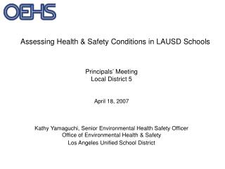 Assessing Health & Safety Conditions in LAUSD Schools