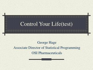 Control Your Life(test)
