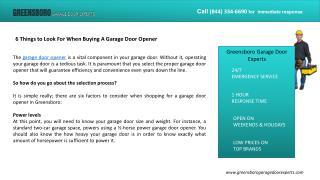 Greensboro Garage Door Experts
