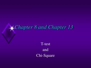 Chapter 8 and Chapter 13