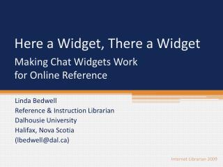 Making Chat Widgets Work  for Online Reference