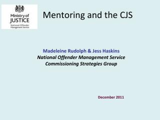 Mentoring and the CJS