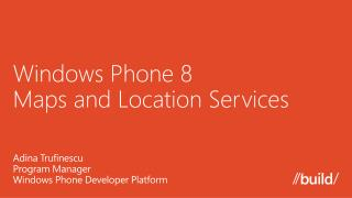 Windows Phone 8  Maps and Location Services