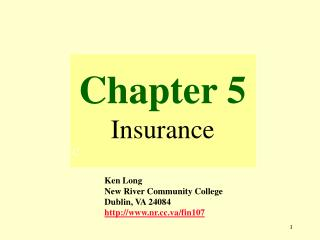 Chapter 5 Insurance