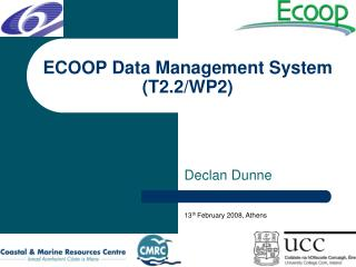 ECOOP Data Management System (T2.2/WP2)