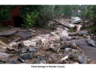 Flood damage in Boulder County