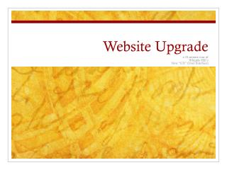 Website Upgrade