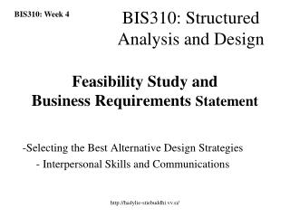 Feasibility Study and  Business Requirements  Statement