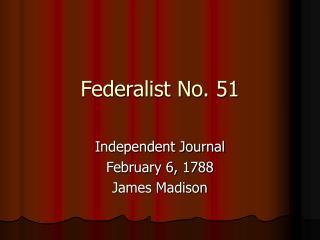 Federalist No. 51
