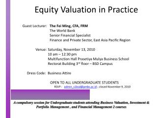 Equity Valuation in Practice