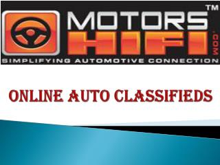 Online Auto Classifieds
