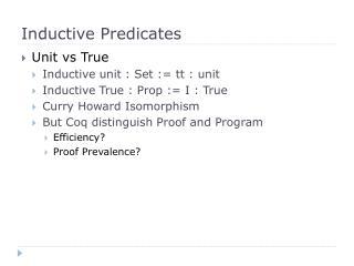 Inductive Predicates