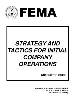 STRATEGY AND TACTICS FOR INITIAL COMPANY OPERATIONS
