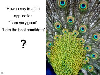 "How to say in a job application  "" I am very good""  ""I am the best candidate"" ?"