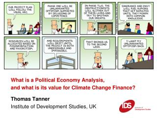 What is a Political Economy Analysis, and what is its value for Climate Change Finance?