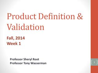 Product Definition & Validation