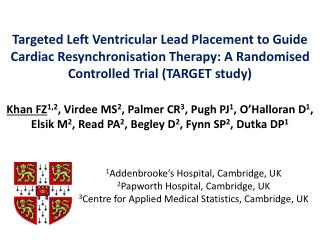 Targeted Left Ventricular Lead Placement to Guide Cardiac Resynchronisation Therapy: A Randomised Controlled Trial (TARG