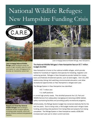 The National Wildlife Refuges in New Hampshire face an $7.7 million budget shortfall