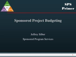 Sponsored Project Budgeting