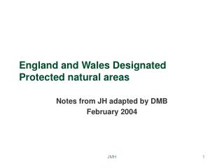 England and Wales Designated Protected natural areas