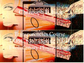Transparencies Course COSC 6367 (Spring 2001) Evolutionary Programming