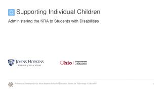 Supporting Individual Children