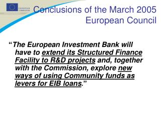 Conclusions of the March 2005 European Council
