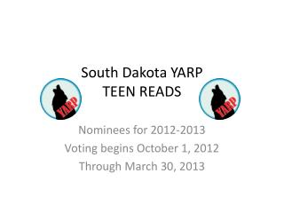South Dakota YARP TEEN READS