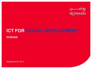 ICT FOR  SOCIAL DEVELOPMENT