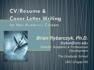 CV/Resume &  Cover Letter Writing for Non-Academic Careers