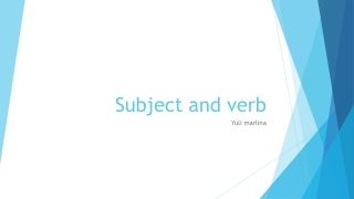 Subject and verb