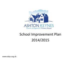 School Improvement Plan 2014/2015