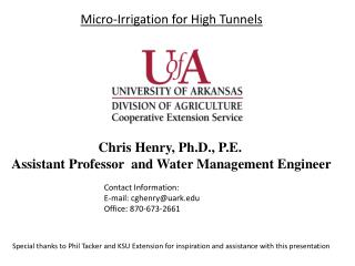 Pasture / Hay Irrigation options and Management