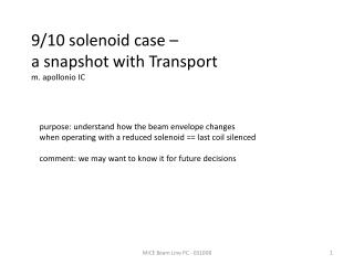 9/10 solenoid case –  a snapshot with Transport m.  apollonio  IC