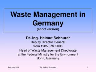 Waste Management in Germany (short version)