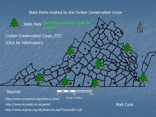 State Parks created by the Civilian Conservation Corps