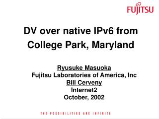 DV over native IPv6 from College Park, Maryland