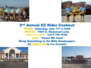 2nd Annual EZ Rider Cookout