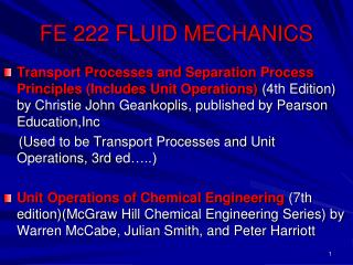 FE 222 FLUID MECHANICS