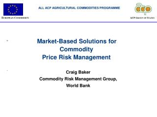 Market-Based Solutions for Commodity Price Risk Management