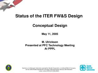 Status of the ITER FW&S Design