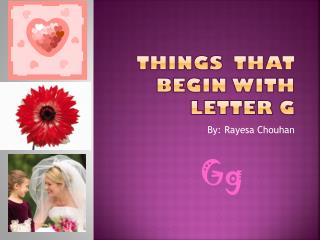 Things  that begin with letter G