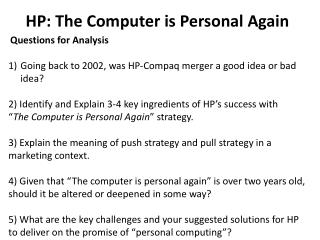 HP: The Computer is Personal Again