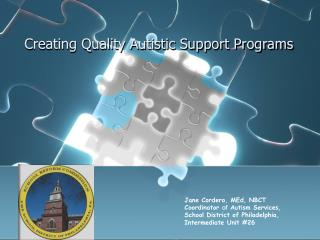 Creating Quality Autistic Support Programs