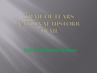 Trail of Tears Presentation