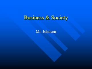 Business & Society