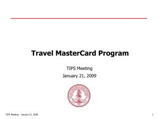 Travel MasterCard Program
