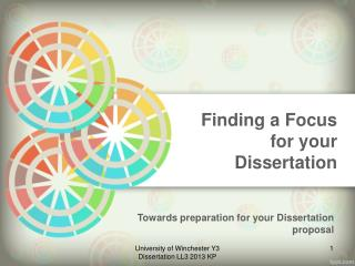Finding a Focus for your Dissertation