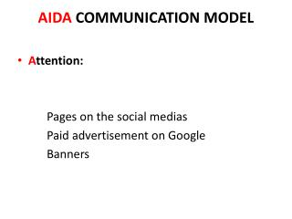 AIDA  COMMUNICATION MODEL