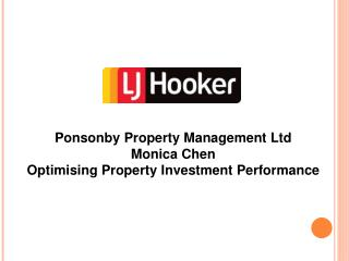 Ponsonby Property Management Ltd Monica Chen Optimising Property Investment Performance